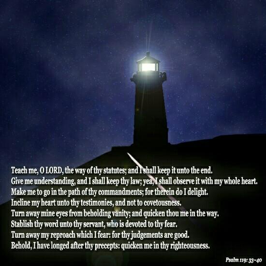 A Prayer for Understanding - Psalm 119:33-40
