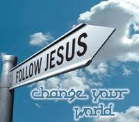 Follow Jesus and change your world.