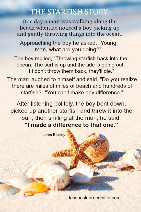 Starfish story ... you can make a difference