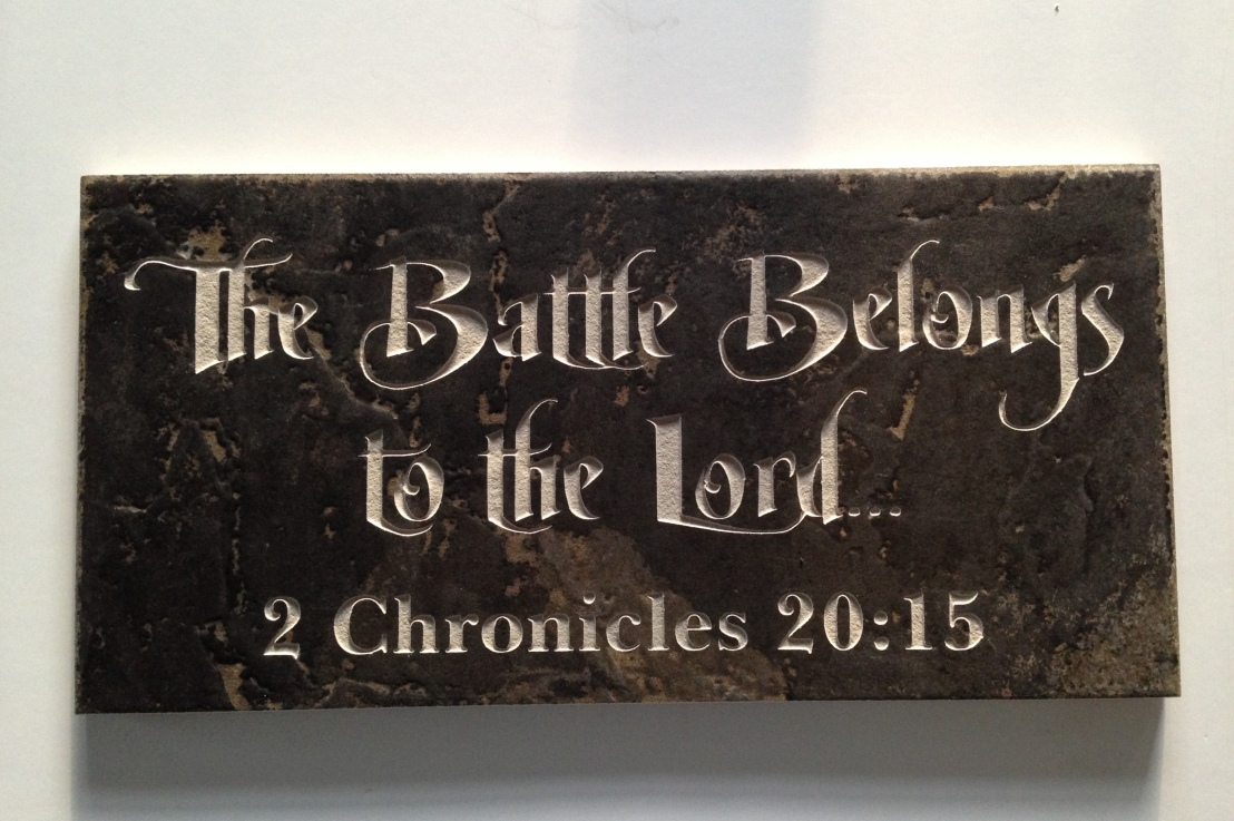 The battle belongs to the Lord! And if you checkout the end of the book, He wins!