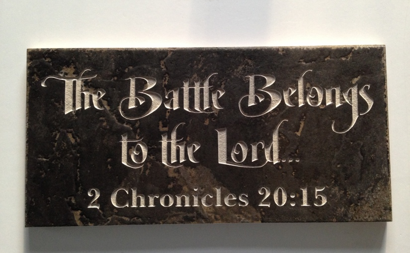 The battle belongs to the Lord! And if you checkout the end of the book, Hewins!