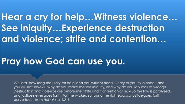 Pray for how you can be a part of providing justice.