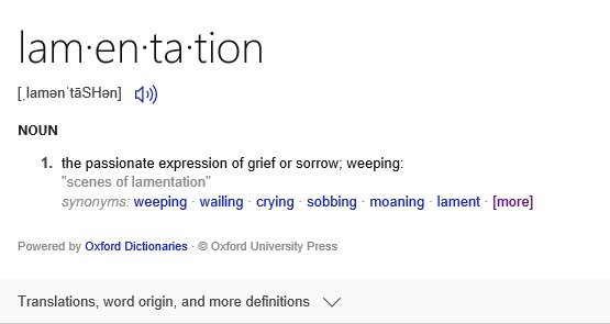 Lamentation defined