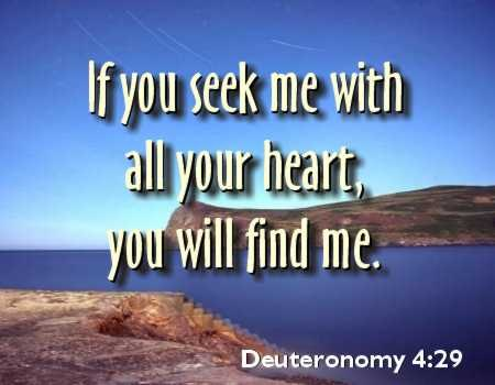 Seek and you will find God
