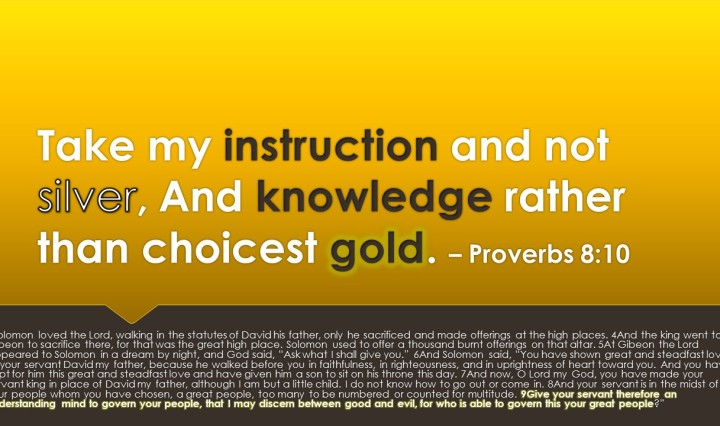 Wisdom is more valuable than gold