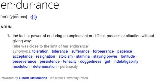 Definition of endurance
