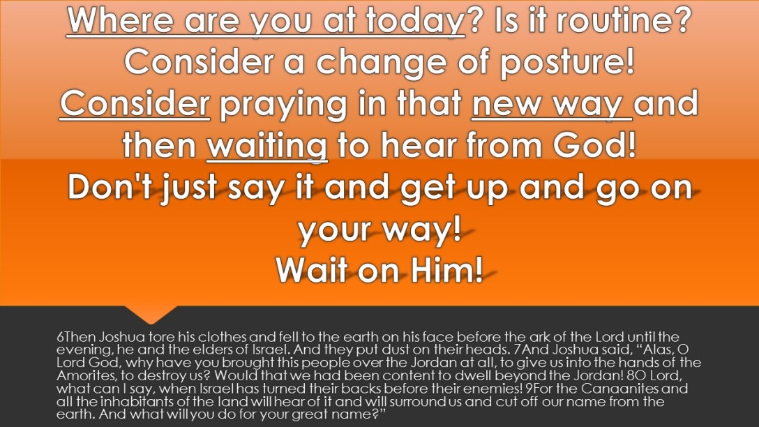 Give it up to God! Wait upon the Lord!