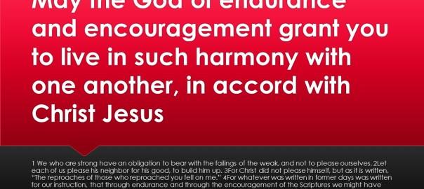 Endurance, Encouragement, Unity