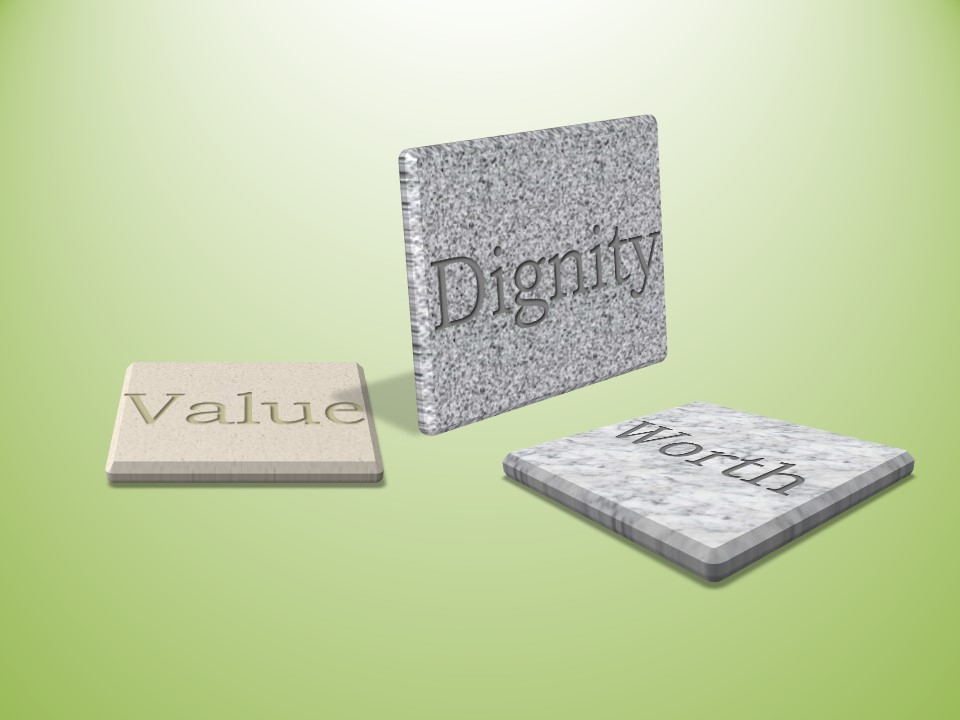Dignity, Value, Worth