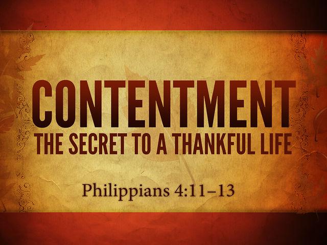 Philippians 4 - Contentment
