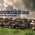 Do you realize there is such thing as healthy boundaries?