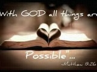 Nothing is impossible with God!