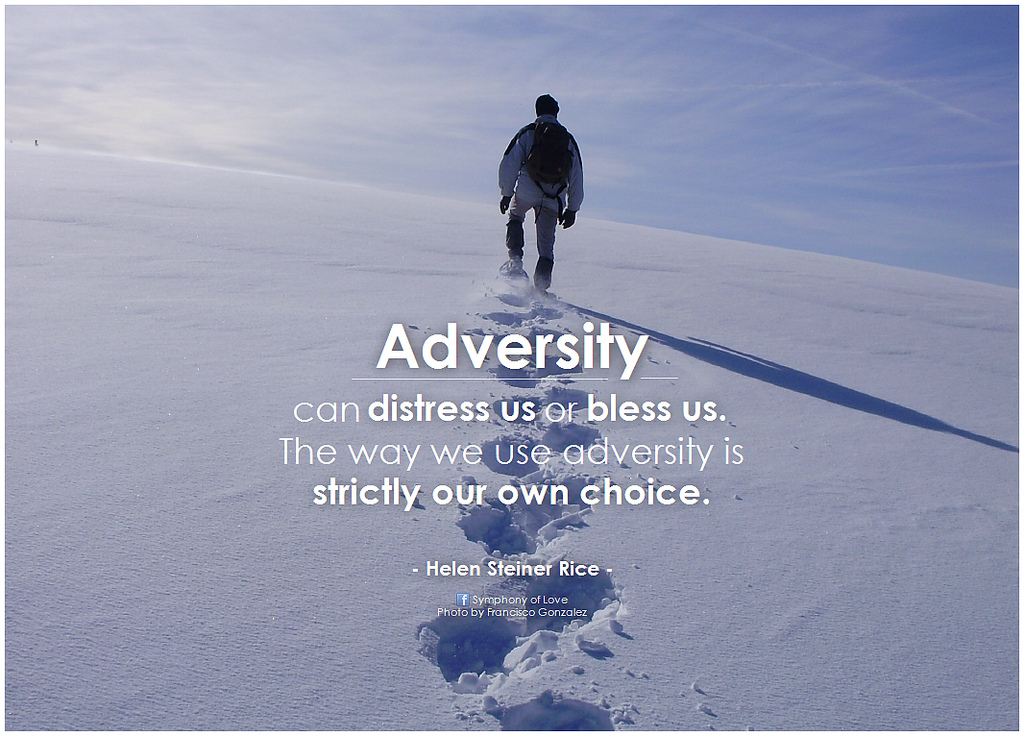 Do you realize making it through adversity will also bless yourkids?
