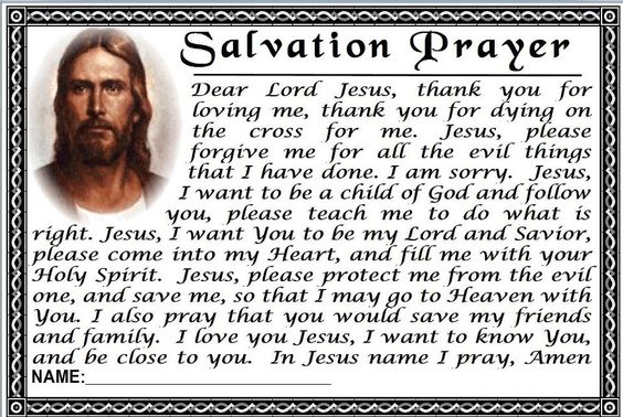 Prayer of Salvation Example