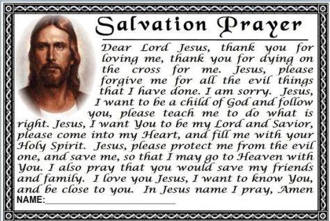 Prayer of Salvation Example