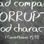 Be careful the company you keep!