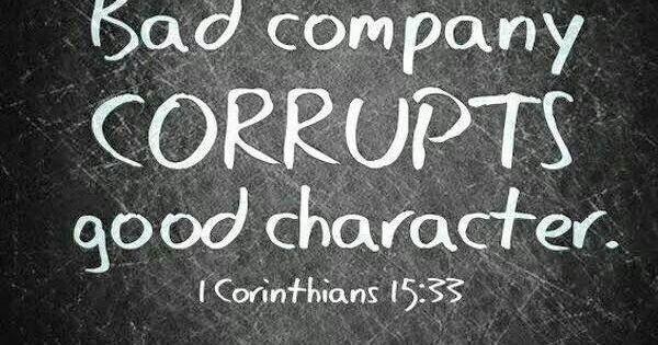 Be careful the company youkeep!