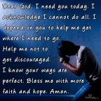 Do you realize how much you need God?