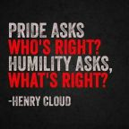 Are you walking in pride?