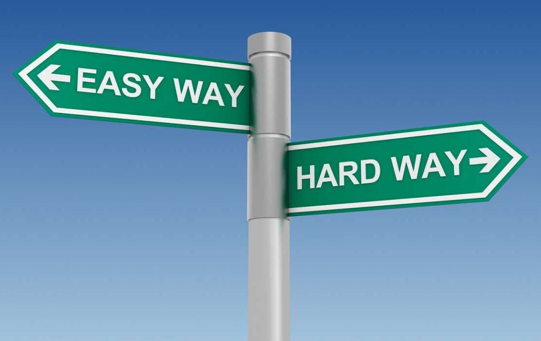 """Ever heard the statement """"We can do it the easy way or the hard way, it's up toyou""""?"""