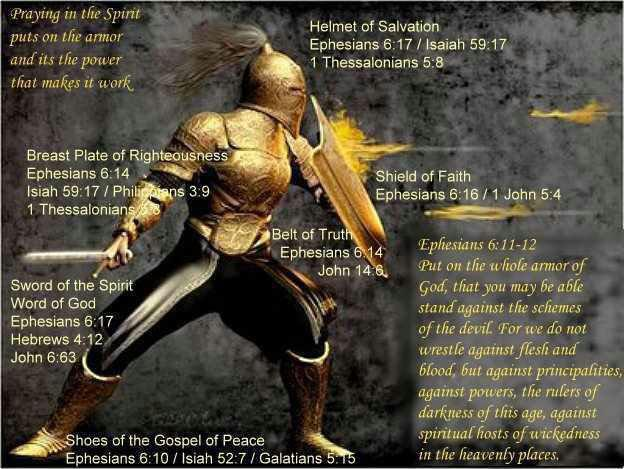 Our battle isn't against flesh andblood!