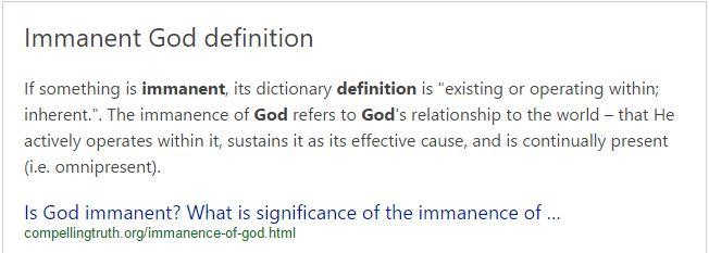 immanence-of-god