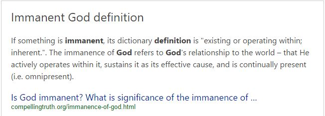 immanence-of-god