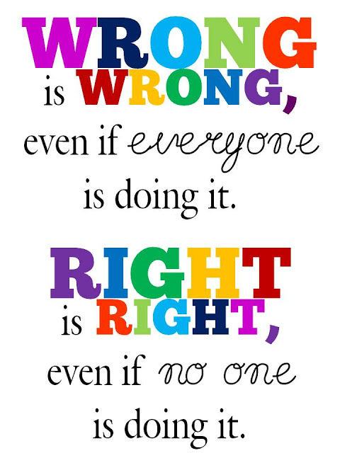 Can you tell the difference between right and wrong?