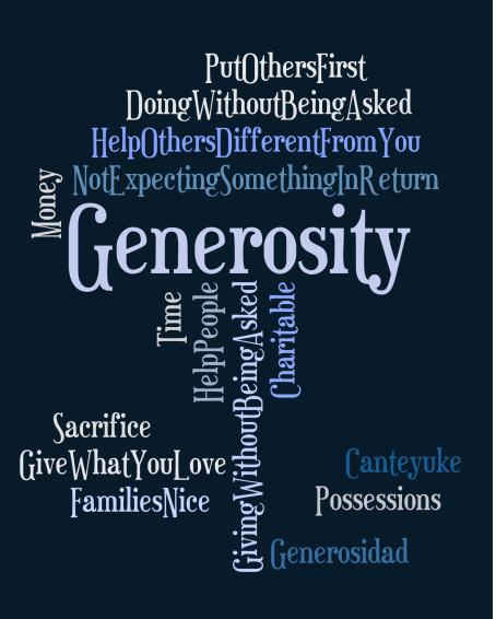 Generosity - ways to be generous