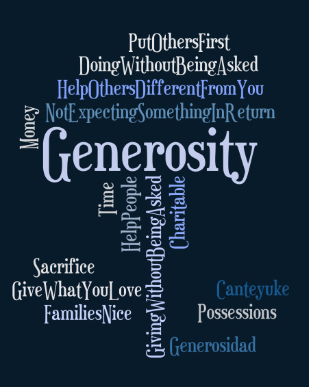 Generosity - ways to be generous