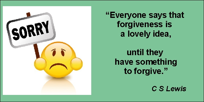 Forgiveness is the key - C-S-Lewis-quote