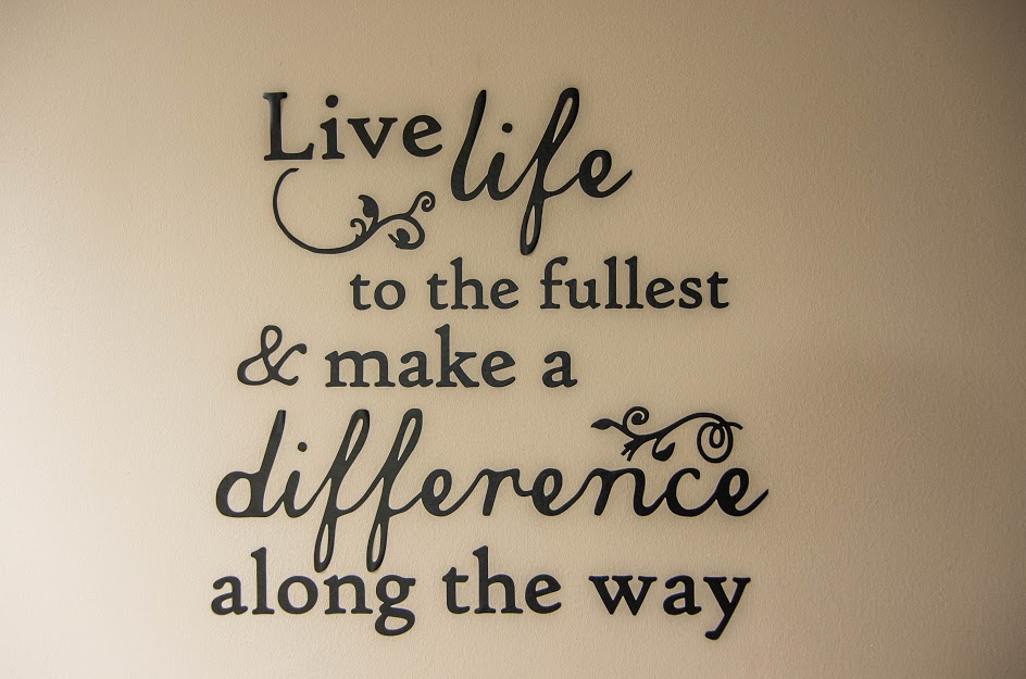 Are you making a visible difference in the lives ofothers?