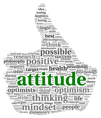 What type of attitude are you walking around with?