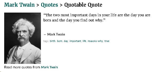 Mark Twain - Two Days