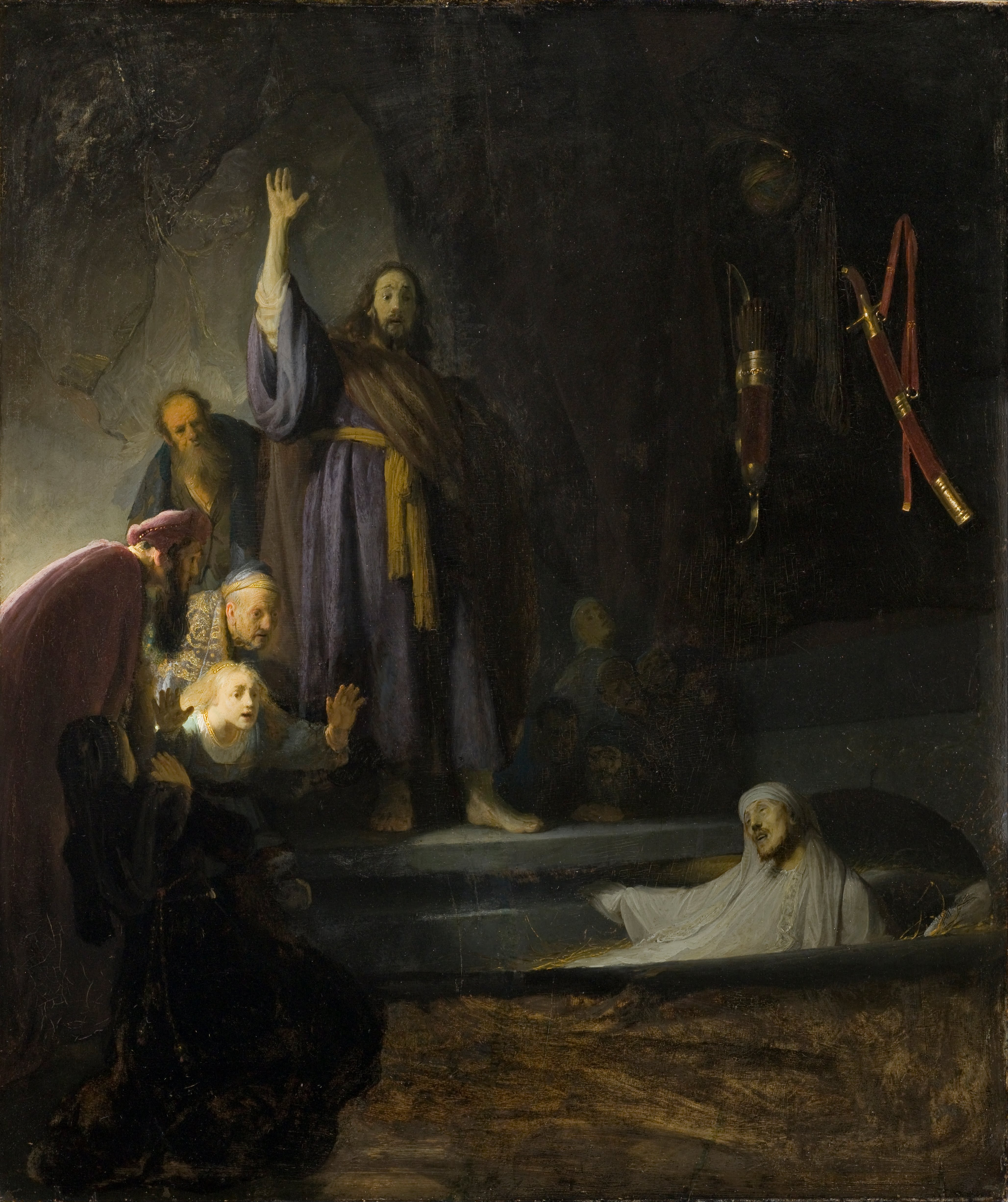 Jan 24th - John 11_1-16 - The_Raising_of_Lazarus by Rembrandt Harmensz. van Rijn