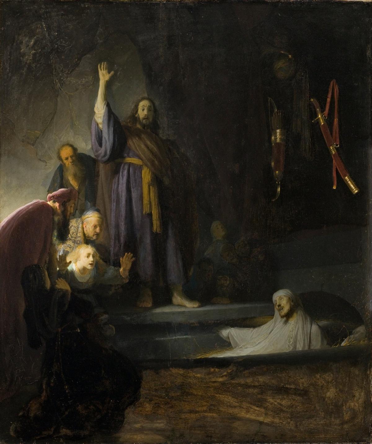 Jan 24th - John 11_1-16 - The_Raising_of_Lazarus by Rembrandt Harmensz. van Rijn