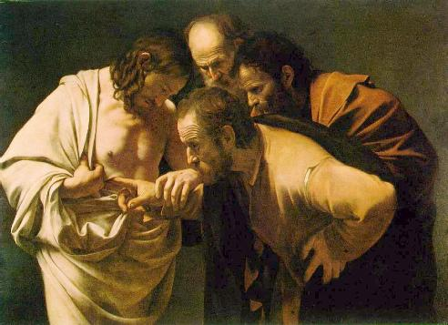 Jan 26 - John 20_25 - The Incredulity of Saint Thomas by Caravagio