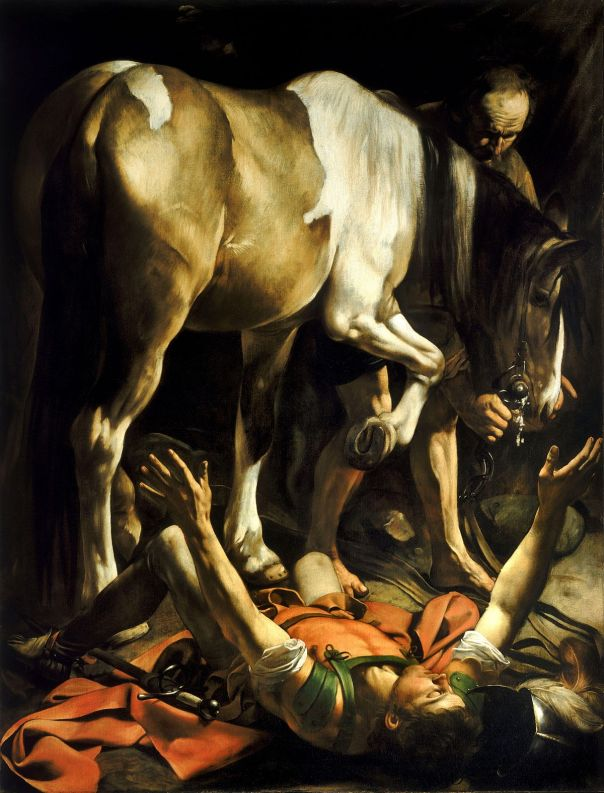 Jan 27 - Acts 9_3-4 - The Conversion of Paul by Caravaggio