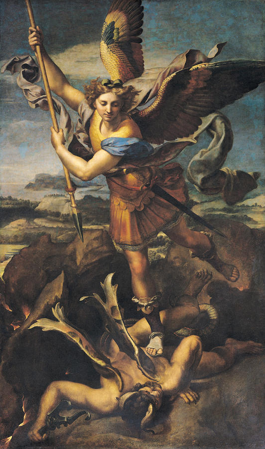 Jan 28 - Jude 9 - St. Michael Overwhelming the Demon by Raphael