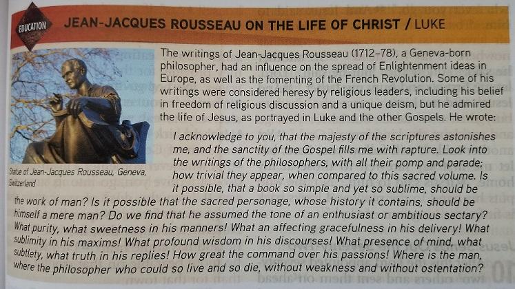 Feb 22- Jean-Jacques Rouseau on the life of Jesus Christ - Luke 9