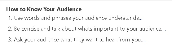 Feb 28 - Know your audience - How to know your audience - Titus 1