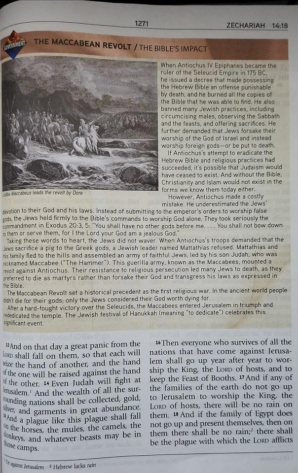 Mar 13 - Maccabean Revolt - Zechariah 14 - The Coming Day
