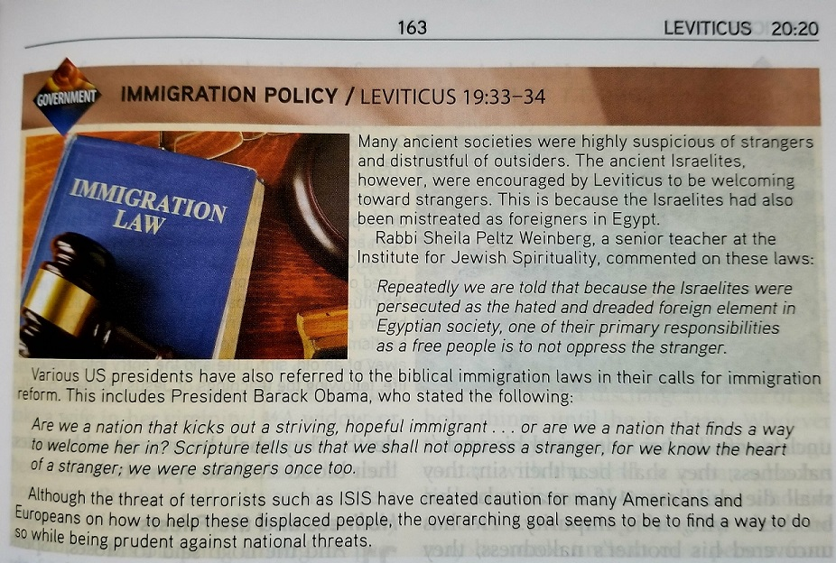 Immigration Policy - impacted through Leviticus 19:33-34