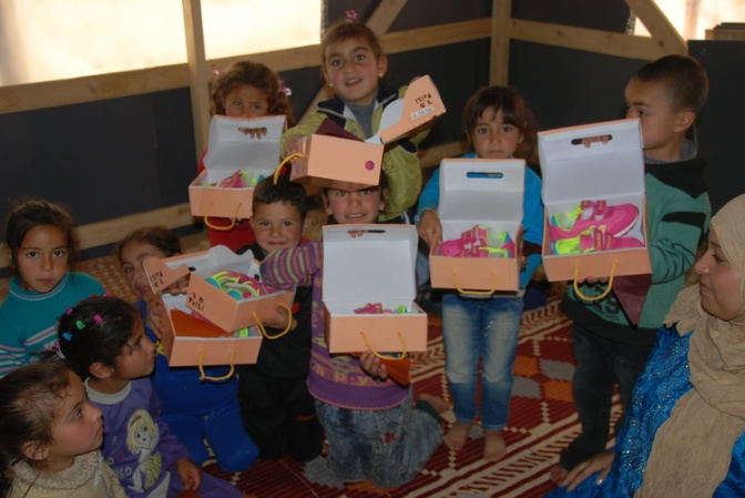 Apr 12 - Isaiah 19_23-25 - Serving refugees in the middle east - Peace and Reconciliation - Shoe Project