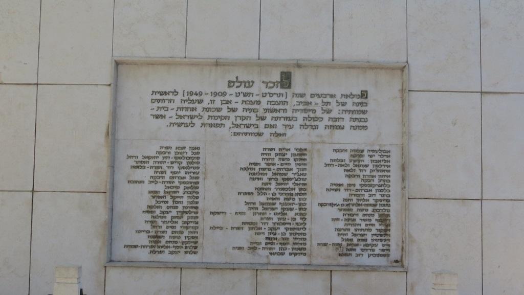 June 15 - Isaiah 31_4 - Tel Aviv Founders Monument - Family Names list