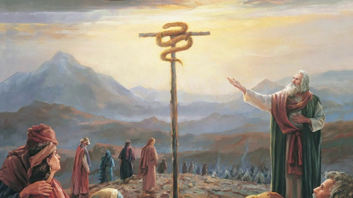 July 7 - Moses and the snake on pole to heal people bit by snake - Numbers 21_4-9
