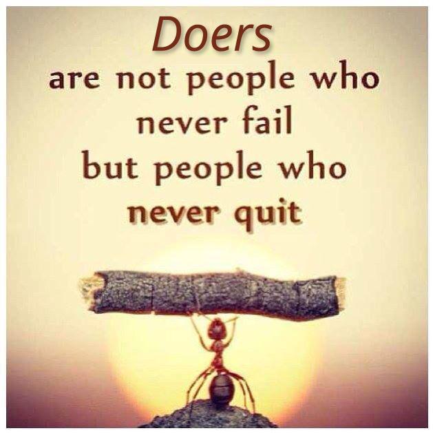 Be a doer!