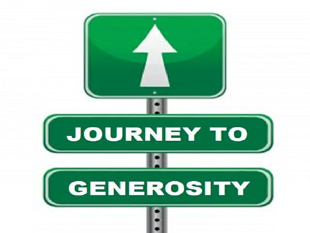 What does generosity look like toyou?