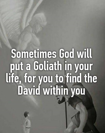 Do you see that obstacle in front of you? How much faith do you put inGod?