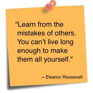 Will you learn from your mistakes?